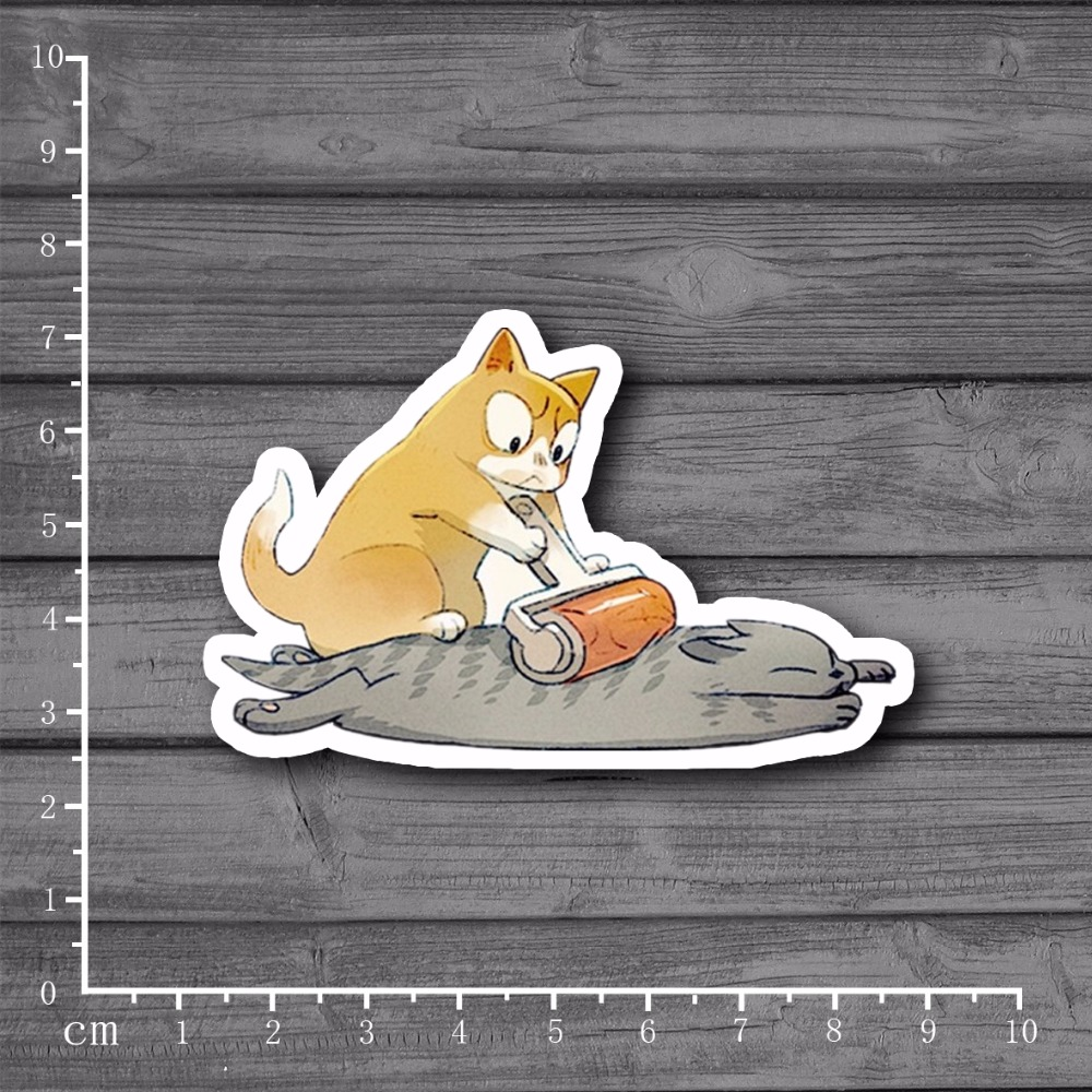 Papa Cat Massage Waterproof On Laptop Notebook Stationery Stickers For Kids Toys Car Styling Luggage Tide Brand Stickers[single]