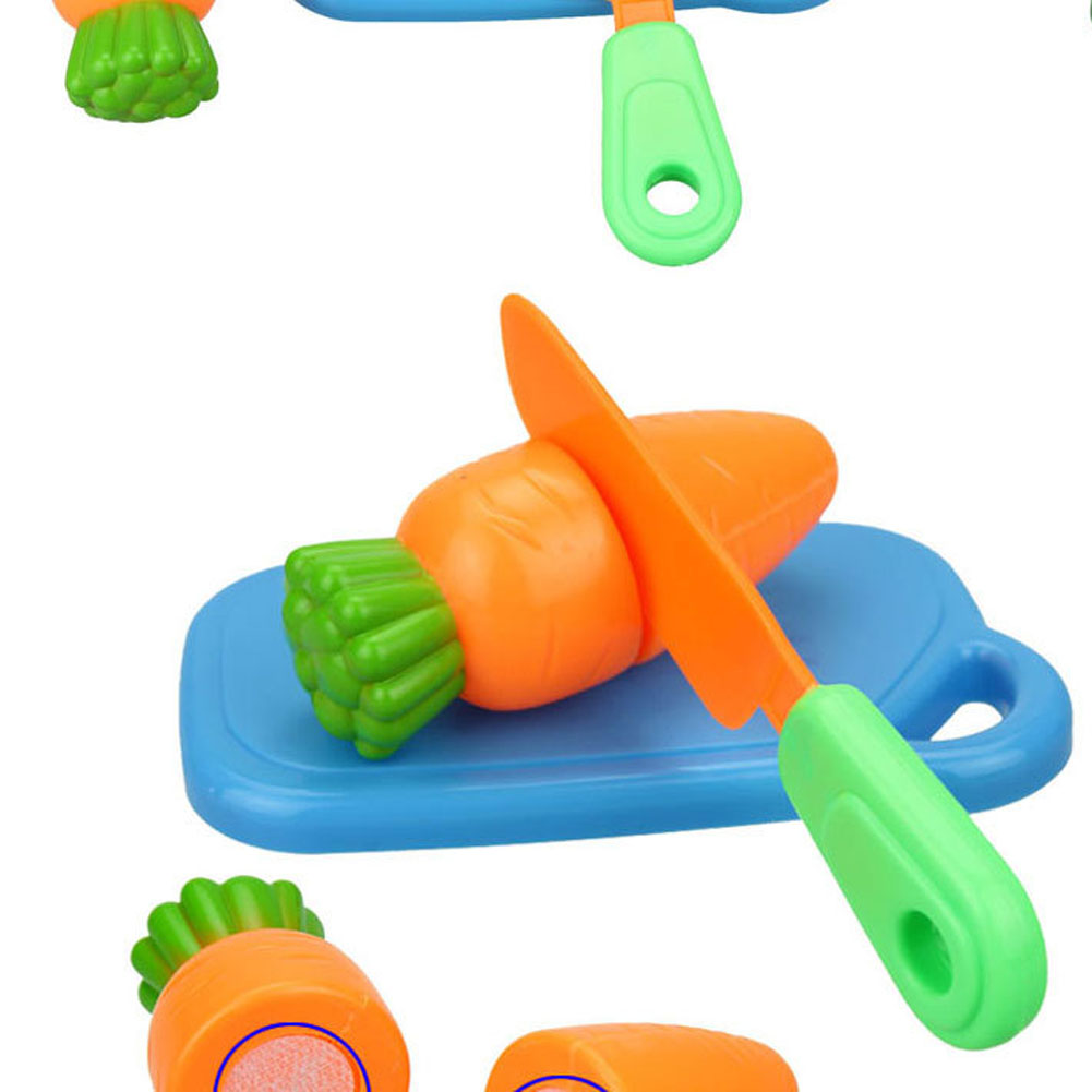7 Pcs/set Plastic Kitchen Toys Cutting Fruit Vegetable Play Miniature Food Kids Wooden Baby Early Education Food Toys