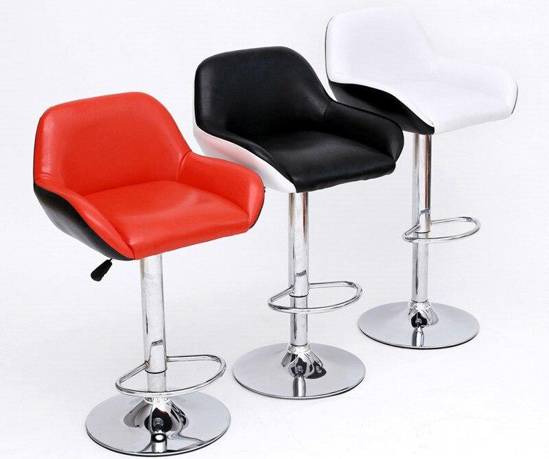 New casual bar chair creative fashion simple lift swivel chair oxygen bar chair gray