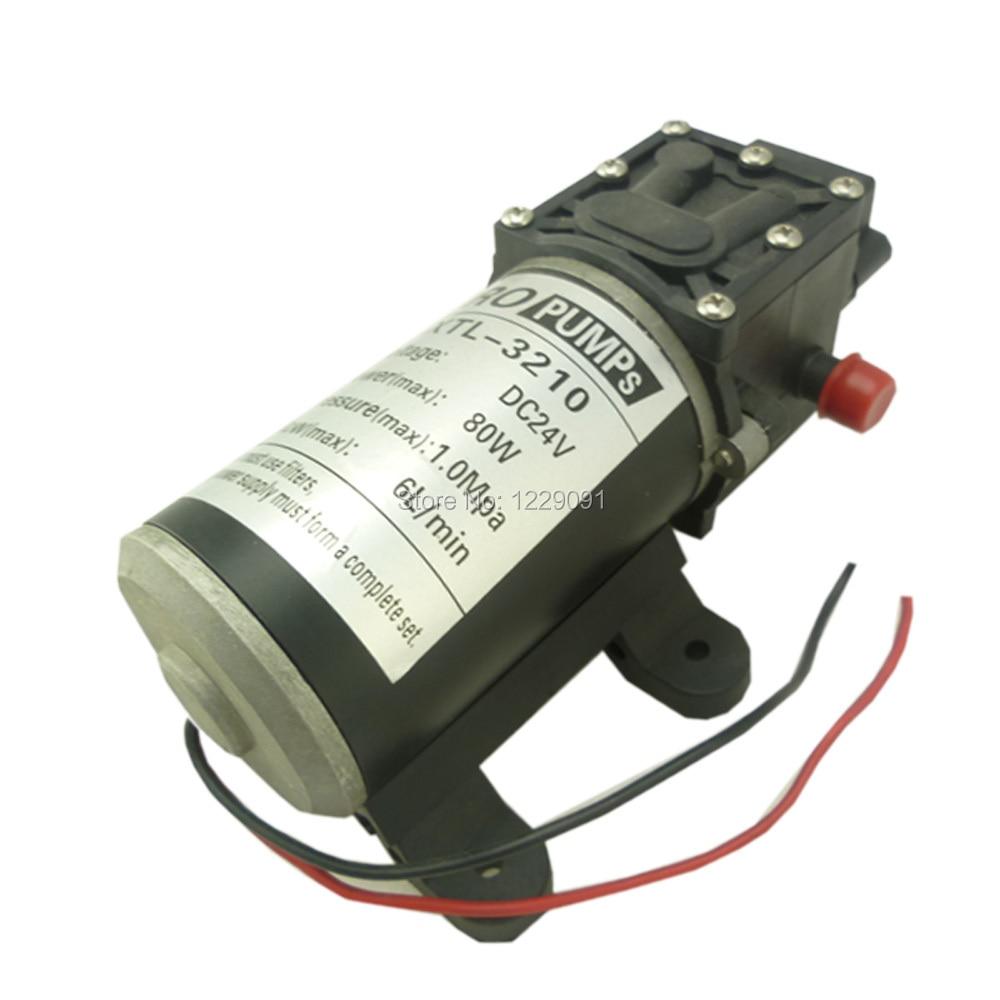 dc mini 80w high pressure return valve type 6L/min Diaphragm Water Pump 24v popular sale 30w small diaphragm return valve type 12v high pressure water pump