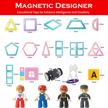 1Pcs Big Size 3D Magnetic Blocks Magnetic Designer Building Construction Toys Magnet Educational Toys For Children