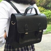 Принцесса Сладкая Лолита Сумка японская JK форма сумка Лолита мягкая девочка портфель студент черный поперечный разрез квадратная сумка WW024