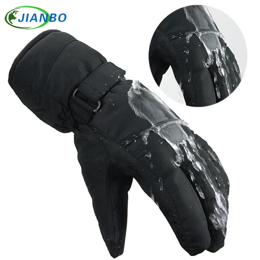 Outdoor Windproof Ski Gloves Waterproof Winter Keep Warm Snowboarding Riding Motorcycle Gloves Breathable Men Protection Glove