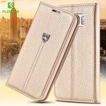 Floveme S6 благородный бренд личи Стенд флип чехол для Samsung Galaxy S6 G920 кошелек визитница Роскошный кожаный чехол для Galaxy S6