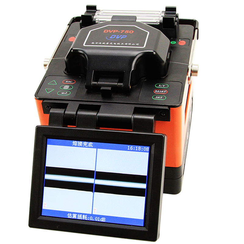 Single Fiber DVP Digital Fiber Optical Fusion Splicer Machine DVP-750 For FTTx FTTH Patch Cord With Splice Kit