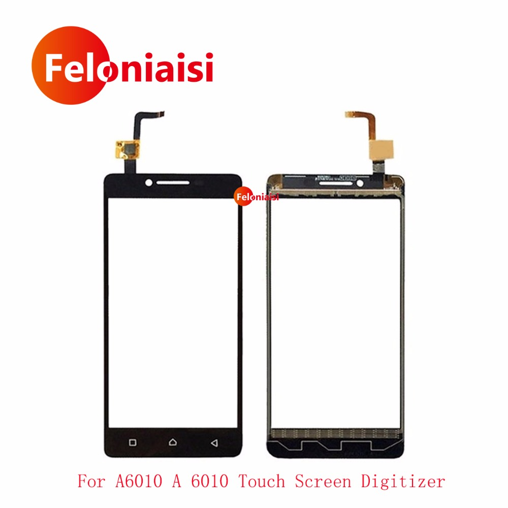 High Quality 5.0 For Lenovo A6010 A 6010 Touch Screen Digitizer Sensor Front Glass Lens Panel Black+Tracking Code