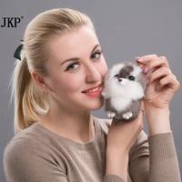 Frauen Niedlichen Tier Schlüsselanhänger Echt Nerz Haar Ball Eichhörnchen Design Heißer Verkauf Auto Handtasche Anhänger Pom Flauschigen Schlüsselanhänger