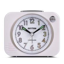RHYTHM Brand Mechanical Bell Alarm Snooze Night Light Super Silky Move Clocks ABS Plastic Case Bedroom