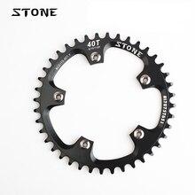 Kamień MTB rower pojedynczy łańcuch BCD 110mm 34T 36T 38T 40T 42T 48T 58T 60T okrągły łańcuszek pierścień 5 ramion wąski z szerokimi zębami koło łańcuchowe