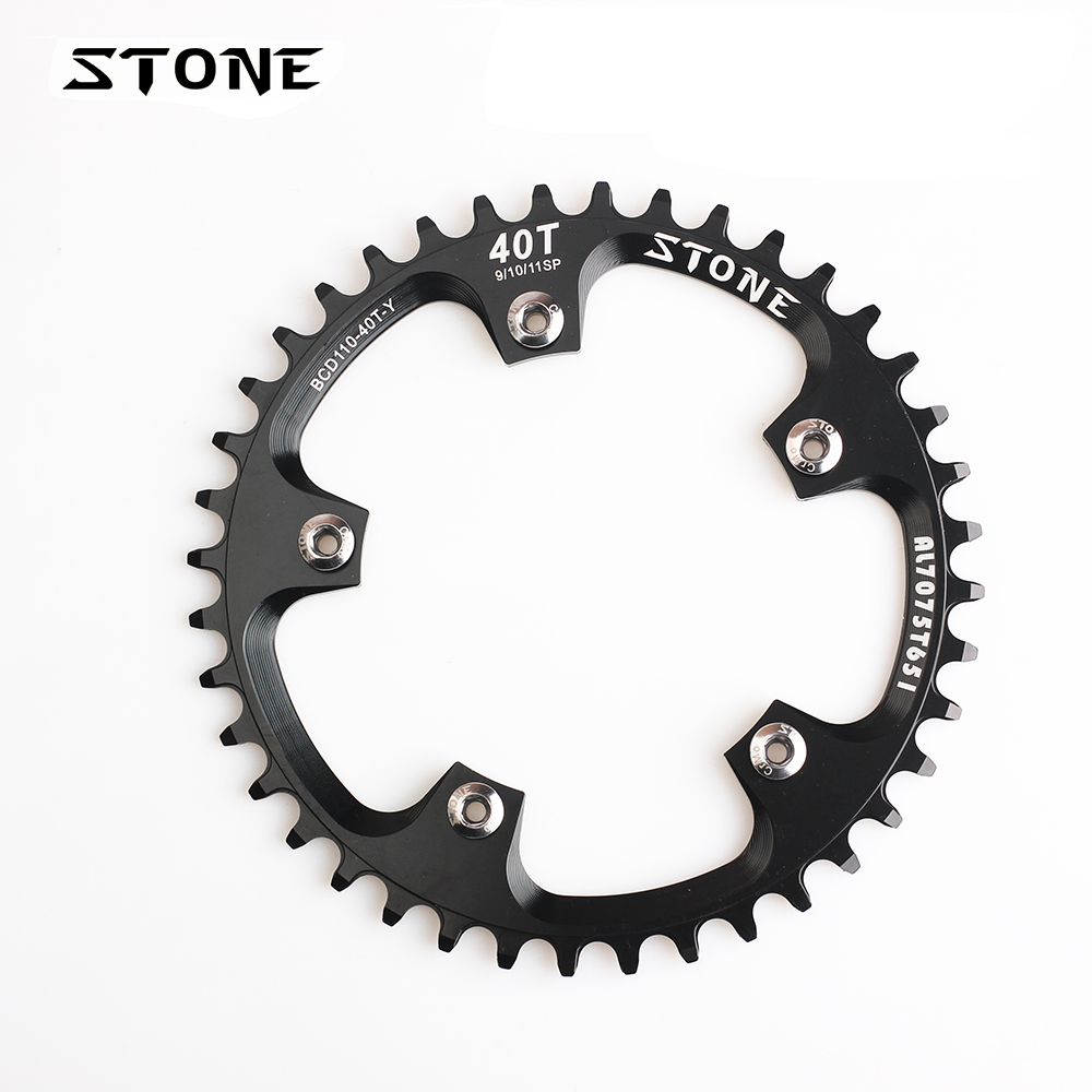 Stone MTB Bike Single Chainring BCD 110mm 34T 36T 38T 40T 42T 48T 58T 60T Circle Chain Ring 5 Arms Narrow Wide Teeth Chainwheel Stone MTB Bike Single Chainring BCD 110mm 34T 36T 38T 40T 42T 48T 58T 60T Circle Chain Ring 5 Arms Narrow Wide Teeth Chainwheel