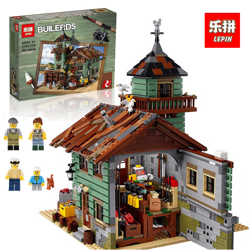 Lepin 16050 Model building kits compatible with lego 21310 2109Pcs MOC Series The Old Fishing Store Set Building Blocks Bricks xp group женское демисезонное пальто ирма молочный