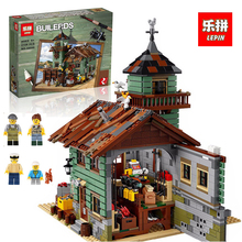 Купить с кэшбэком Lepin 16050 Model building kits compatible with lego 21310  2109Pcs MOC Series The Old Fishing Store Set Building Blocks Bricks
