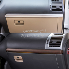 цена на Inner Front Dashboard Center Control Strip Trims Cover For Toyota Land Cruiser Prado FJ 150 2010-2018 ABS Chrome Car Accessories