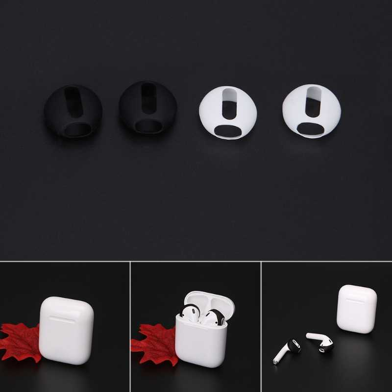 6c85628468c OOTDTY 2 Pairs Super Thin Silicone Eartips Earbuds Cover Upgraded For Apple  Airpods iPhone 8 7