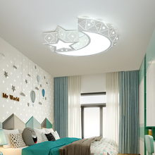 купить Modern LED Ceiling Lights Iron Acrylic White Moon And Star LED Lamp.LED Light..LED Ceiling Light.Ceiling Lamp For Foyer Bedroom по цене 6072.83 рублей