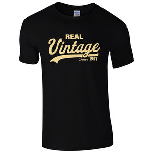 Vintage Since 1957 T-Shirt - Funny Novelty 60th Birthday Present Mens Gift Top Summer Casual Man T Shirt Good Quality(China)