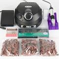 30000 RPM Eléctrica Uñas de Manicura del Archivo del Taladro de Manicura Profesional Negro Kit 220 V Herramientas Del Arte Del Clavo Para Uñas de Gel