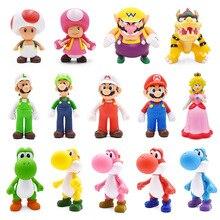 8-15cm Super Mario Figures Toys Bros Bowser Luigi Koopa Yoshi Maker Odyssey PVC Action Figure Model Dolls Gift