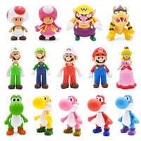 8-15cm figuras de Super Mario juguetes, Mario Bros, Mario Bowser Luigi Koopa Yoshi, Mario Maker odisea PVC figura de acción juguetes de modelos de muñecas de regalo