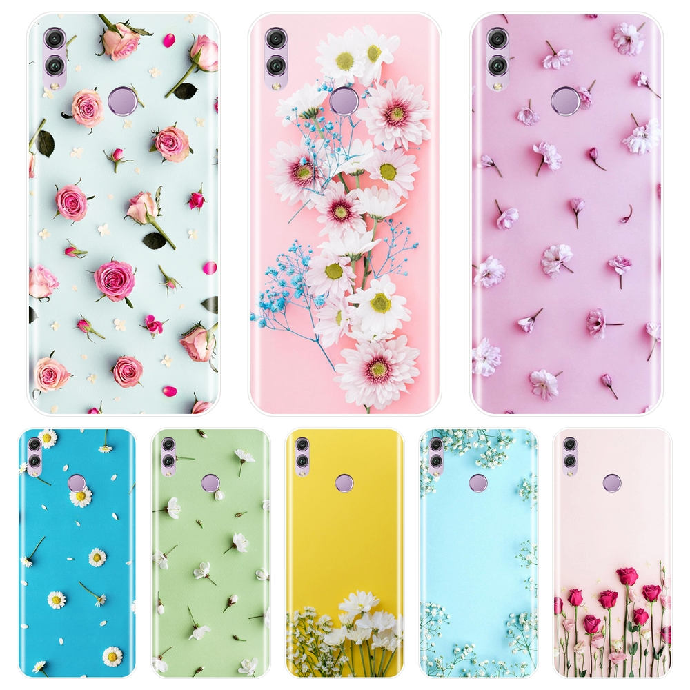Phone <font><b>Case</b></font> For Huawei <font><b>Honor</b></font> 7 8 <font><b>9</b></font> 10 <font><b>Lite</b></font> Rose Flower Soft Silicone Back Cover For Huawei <font><b>Honor</b></font> 8X MAX 10 <font><b>9</b></font> 8 7 7S 7X 7A 7C Pro image