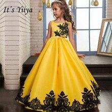 Это yiiya бретельках для девочек в цветочек платья пят принцесса бальное сладкий вышивка Платье для девочек без рукавов 718