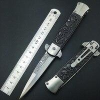شبح الجمجمة رئيس 3 أسلوب stonewash الصلب سكاكين الجيب سكين للطي بليد سكاكين التخييم التكتيكي بقاء أدوات هدايا