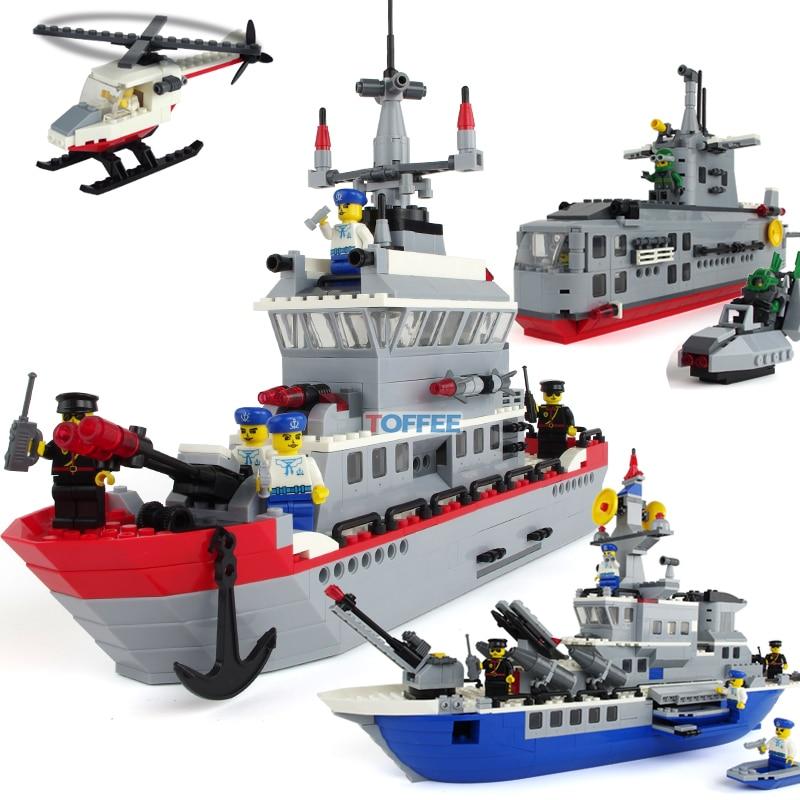 Без коробки военные прослужит противоракетной фрегат подводной лодки DIY Развивающие игрушки пластиковые маленькие кирпичи строительный б... ...