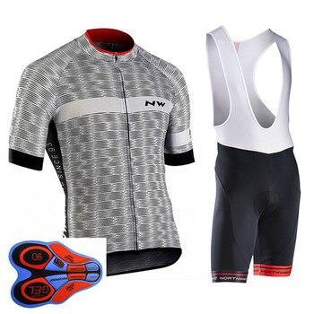 NW 2019 Estate In Bicicletta Jersey Breve Insieme Del Manicotto Della Bici Della Bicicletta Abbigliamento Ciclismo ropa Ciclismo uniformi Vestiti del Ciclo Maillot Bib Shorts #7