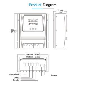 Image 5 - Otomatik çift güç aktarma anahtarı 11000W Max güç güneş şarj regülatörü güneş rüzgar sistemi için AC 110V 220V açık/kapalı izgara
