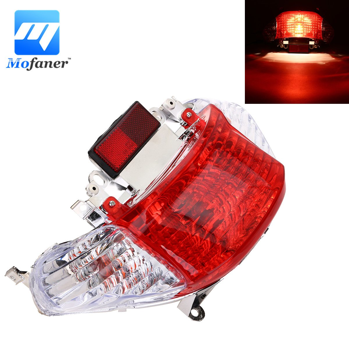 Mofaner Motorcycle Gy6 Scooter 50cc Rear Tail Light Turn Signal For CHINESE TAOTAO SUNNY