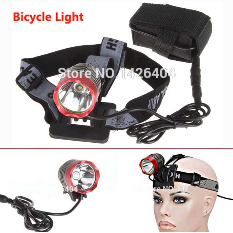 2000 Lumen XM-L T6 LED Bicycle Headlight 2 in 1 Waterpoof Bike Light Lamp Cycling Bicycle Front Light torch Head+Battery+Charger 6000lm 3x xm l t6 white 2r5 red led headlamp bike bicycle head light torch headlight lampe frontale ac charger 2x18650 battery