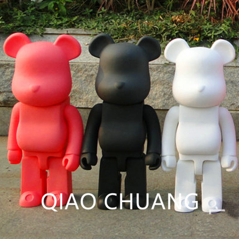 52 CM NEW Be@rBrick Fashion KAWS BFF OriginalFake Brian Street Art ABS Action Figure Collectible Model Medicom Toy S205 new hot christmas gift 21inch 52cm bearbrick be rbrick fashion toy pvc action figure collectible model toy decoration