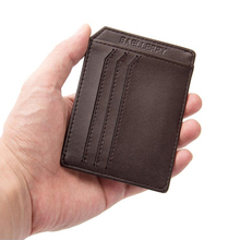 Baellerry Famous Brand Soft Slim Men Wallets ID Cards Holders Man Mini Purse Mal