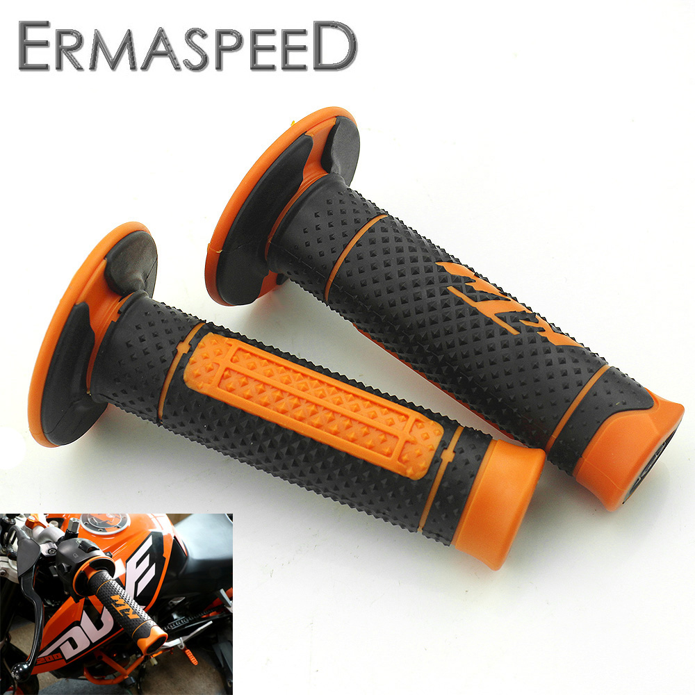 7 8 22mm Motorcycle Hand Grips Handle Rubber Bar Gel Grip Orange Modified Accessory for KTM