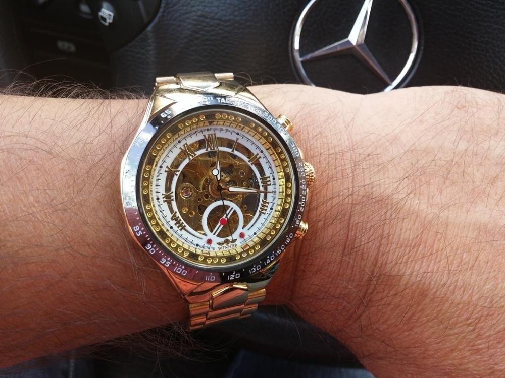 Winner New Number Sport Design Bezel Golden Watch Mens Watches Top Brand Luxury Montre Homme Clock Men Automatic Skeleton Watch 15