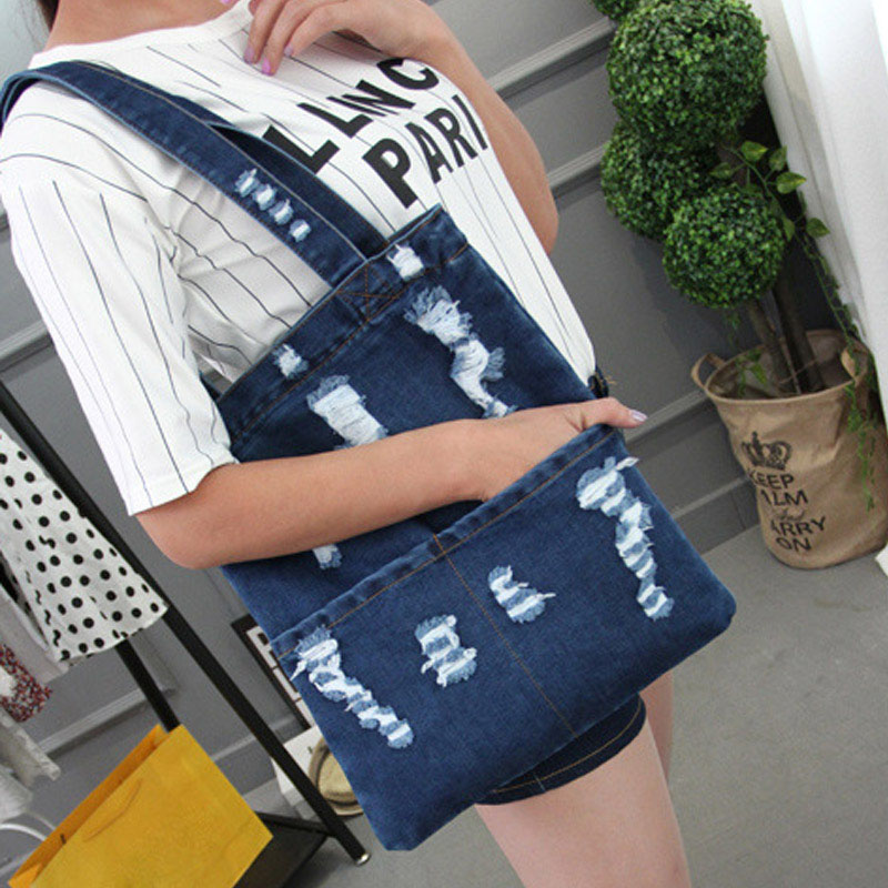 Women Canvas Denim Tote Large Capacity Handbag Shopping Book Student Single Shoulder Bag KA-BESTWomen Canvas Denim Tote Large Capacity Handbag Shopping Book Student Single Shoulder Bag KA-BEST