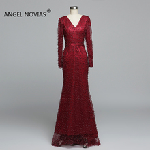 Angel Novias Long Sleeves Evening Dress 2019 Party Dress