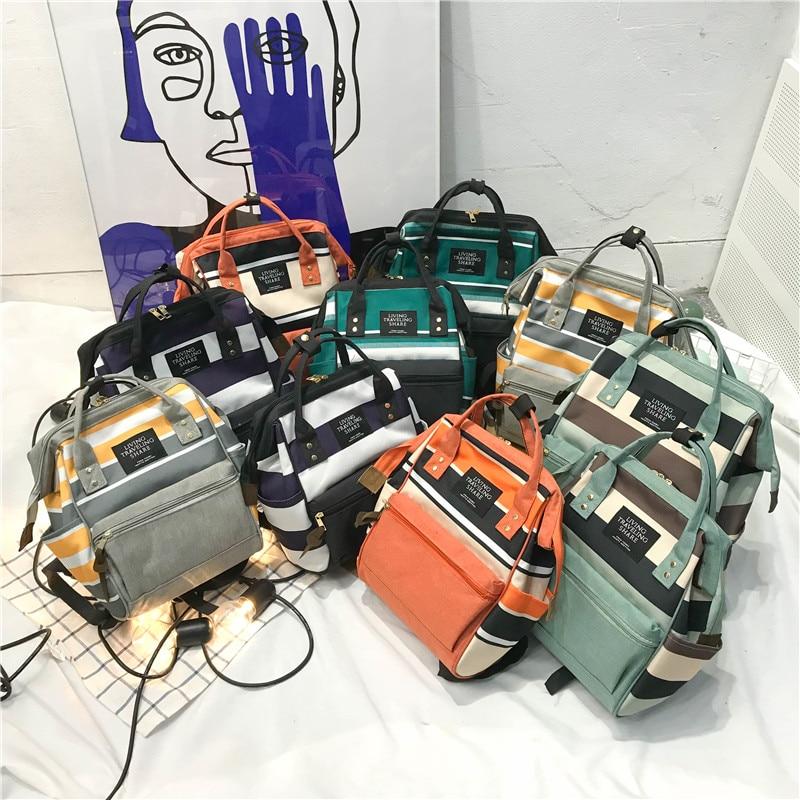 2019 Korean Style Women Backpack Canvas Travel Bag Mini Shoulder Bag For Teenage Girl School Bag Bagpack Rucksack Knapsack
