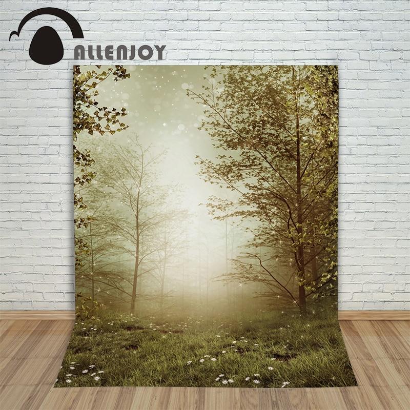 Vinyl photo studio background Grassland trees blurred backdrops fotografia photographic paper недорого