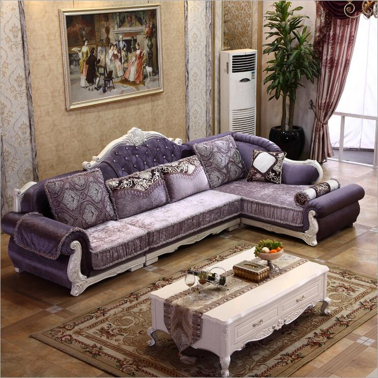 где купить living room furniture modern fabric sofa European sectional sofa set 1075 по лучшей цене