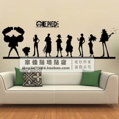one piece vinyl wall decal japanese cartoon anime one piece