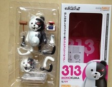 Free Shipping Cute 4″ Nendoroid Monokuma Super Dangan Ronpa Anime PVC Acton Figure Model Collection Toy #313 MNFG057