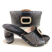 Лучшая цена конструкции для свадебные туфли на каблуках 10 см и Сумочки в комплекте итальянская Дамская обувь и Сумочки в комплекте