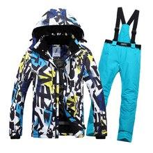 Зимний лыжный костюм для мужчин, лыжный мужской комплект одежды, уличная теплая водонепроницаемая куртка для мужчин, лыжный костюм, мужская куртка для сноуборда