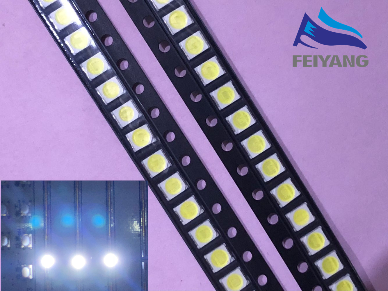 50pcs UNI <font><b>LED</b></font> 3528 <font><b>2835</b></font> 1210 <font><b>LED</b></font> Backlight TV High Power <font><b>1W</b></font> <font><b>3V</b></font> <font><b>LED</b></font> Backlight Cool white For <font><b>LED</b></font> LCD TV Backlight Application image