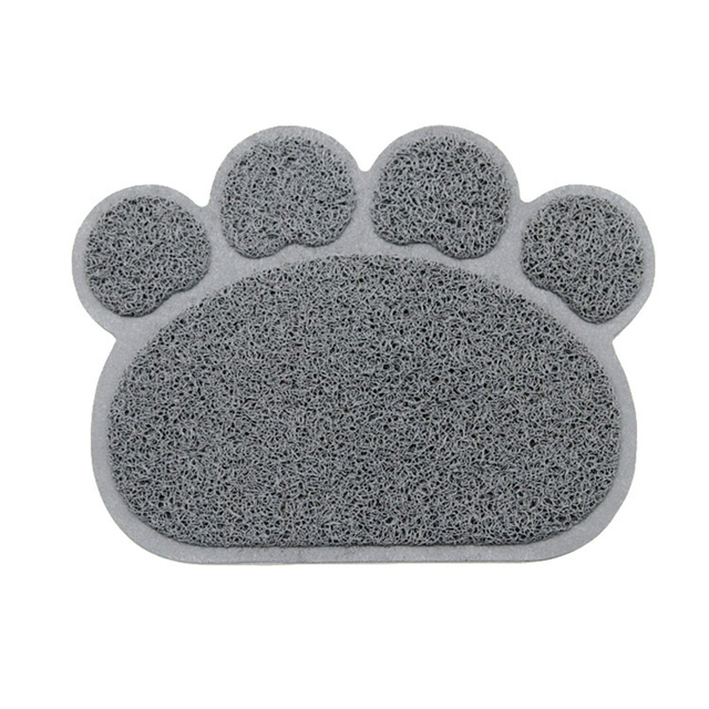 Hot sale 30x40cm  PVC Dog Paw Shape Cup rectangle Pet Dog Puppy Cat Feeding Mat Pad  Bed Dish Bowl Food Water Feed Placemat