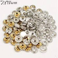 100 Piece Stainless Steel Fastener Snap Buttons Set Silver Snap Fasteners Popper Press Stud Button DIY