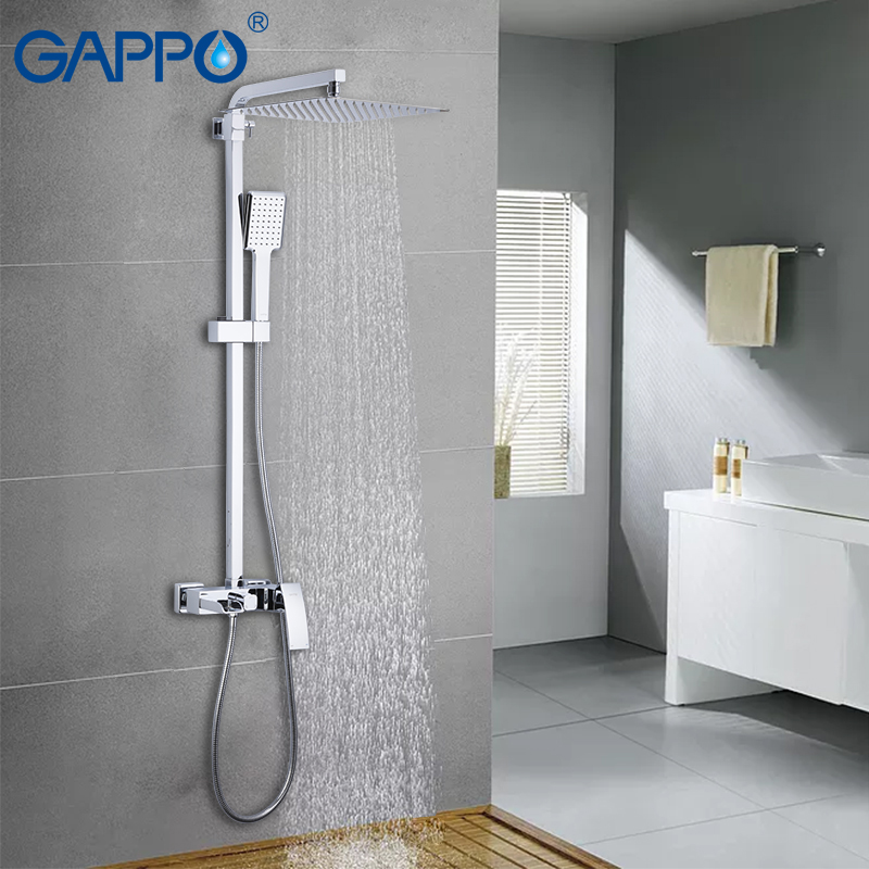 Permalink to GAPPO Sanitary Ware Suite bathroom massage showers waterfall rainfall bath mixer shower sets wall mounted shower heads