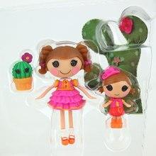 3 Polegada original mga lalaloopsy bonecas com os acessórios, mini bonecas para a casa de brinquedo da menina cada único