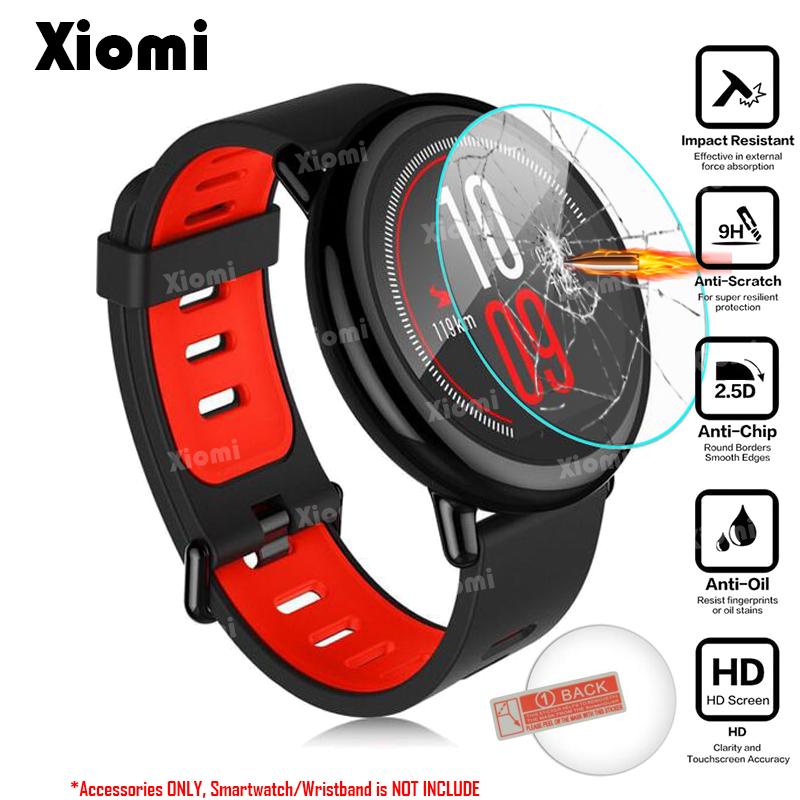 For Xiaomi Huami Amazfit PACE Sports Smart Watch Display Screen Protector Cover Clear Tempered Glass Protective Film Guard !
